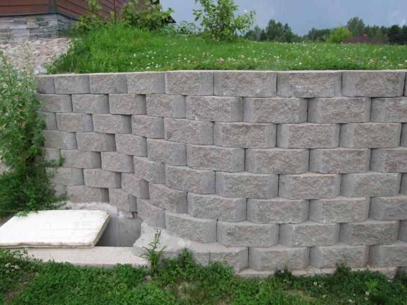 Бетонные блоки для подпорной стенки меликонполар в москве